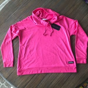 Simply Southern L pink cowl neck long sleeve top